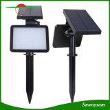 Instalación de dos maneras 48 LED impermeable Sensor de luz solar lámpara de jardín de césped