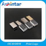 Bastone del cristallo USB3.0 Pendrive del disco istantaneo del USB del metallo