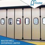 Придайте огнестойкость двери складчатости пользы секционной с подгонянной дверью складчатости размера коммерчески