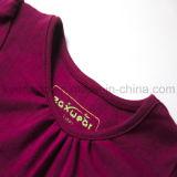 Kleid der Qualitäts-organisches Baumwollform-Prinzessin-Long Sleeve Beads Girl