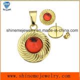 De Juwelen van de manier plaatsen de Nagel van het Oor van de Juwelen van het Gouden Plateren met Tegenhanger (ERS6997)