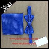 Laço de curva do nó 100% seda Handmade perfeita e quadrado tecidos do bolso