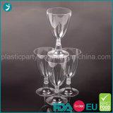 Apagar/transparente de plástico cor branco/PS partido descartáveis de louça de mesa