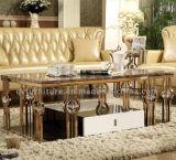 중동을%s 호화스러운 디자인 로즈 Gloden 프레임 커피용 탁자