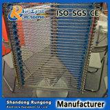 Acero Inoxidable Varilla flexible cintas transportadoras para el procesamiento de alimentos
