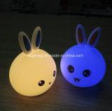 7カラーLED 3D愛らしいウサギの形夜ライト