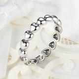 de manier belt de Ringen van het Witgoud van de Vrouwen van Juwelen zonder de Ring van Stenen