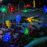 Algas coloridas 7FT / 2m 20 LED AA com bateria operada Powered Copper Wire LED Fairy Strings Lights