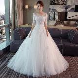 3/4 de chemises lacent vers le haut la robe de mariage nuptiale intégrale arrière