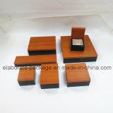 Rectángulo hecho a mano de la joyería de la caja de embalaje de la nueva venta al por mayor de lujo de madera del estilo