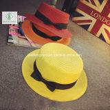 2017 nuevo diseño de Fedora de papel sombreros de paja con la cinta para el verano