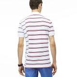 Chemise de polo rayée ajustée du coton des hommes en gros