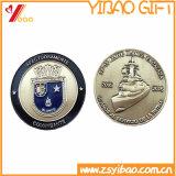 3D personalizado directo de fábrica militar de la moneda de oro de recuerdos con Soft enamel (YB-C-051)