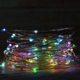 La cadena de hadas enciende las luces de la luciérnaga del alambre de cobre del RGB del adaptador teledirigidas para la boda de DIY