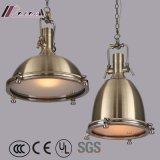 Lâmpada de bronze industrial do pendente de Manafacture da iluminação de Guzhen
