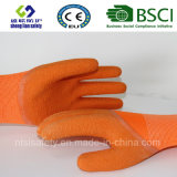 Luvas de nylon do látex das luvas da segurança das luvas da proteção do trabalho do látex