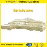 Софа кожи комнаты китайской мебели кожи дома фабрики живущий