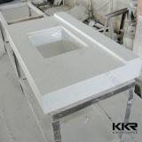 Prefab верхняя часть тщеты ванной комнаты камня кварца проекта гостиницы (171027)
