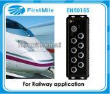 8 переключателей локальных сетей портов M12 промышленных для железнодорожного применения