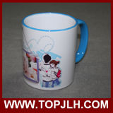 Tazza variopinta del bordo di ceramica 11oz di sublimazione della porcellana