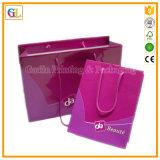 Bolsa de papel reciclable de encargo de las compras