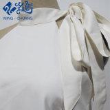 Weiße Newstyle Stan Muffebowknot-Form-Frauen-Freizeit-langes Kleid