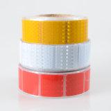 De rode Gele Witte Weerspiegelende Sticker segmenteerde Vierkante Banden met het Merken