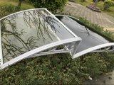 Tente/écran en aluminium incurvés de polycarbonate de bras