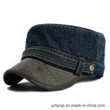 Kundenspezifische Baseballmütze Burshed Baumwollbedeckt förderndes Stickerei-Militär mit einer Kappe