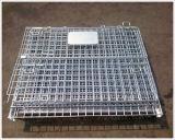 Recipiente de armazenamento dobrável/recipiente Stackable do engranzamento de fio