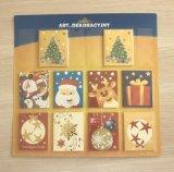 Tarjetas de felicitación de la Navidad con la decoración del arte