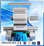 フラットキャップのTシャツのための高速単一のヘッドコンピュータの刺繍機械は刺繍に着せる
