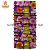 Bandana tubolare su ordinazione delle signore coreane con la stampa del fiore