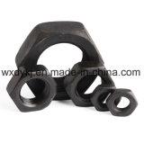 Noix Hex mince principale d'hexagone en acier noir de la pente 8.8