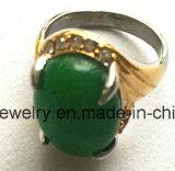 Piedra de la moda roja cuerpo bañado en oro Joyería anillo de fundición