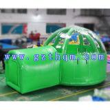 巨大で膨脹可能な屋外のキャンプテント、防水きれいなドームの膨脹可能な泡テント、良質の空気ドームのテント