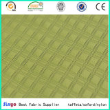 Novo design PU / PVC Revestido Duotone Plaid Jacquard Tecido para Mochila