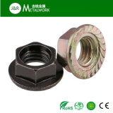 아연에 의하여 도금되는 직류 전기를 통한 탄소 강철 육 플랜지 견과 (DIN6923)