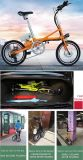 E-Bicicleta de dobramento do aço de carbono com a bateria de lítio 36V/8.8A