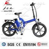 250W du moteur arrière mini portable Bleu de pliage E Bike (JSL039S-7)