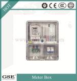 Boîte de mesure transparente Drive-in Boîte de distribution prépayée Circuits monophasés Boîte de IP43