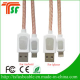 2017 Hot Sales Leather Data Charging USB Cable pour Android