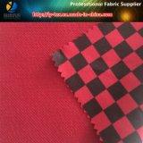 Tecido de camada dupla de poliéster, Check Pikeester impresso Tecido de alta elasticidade para vestuário