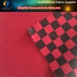 Poliéster de doble capa de tela, cheque impreso poyester alta Elastancia tela para prendas de vestir