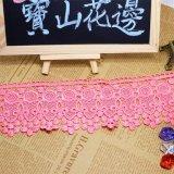 Tessuto di nylon del merletto di immaginazione della guarnizione del ricamo del poliestere del merletto del commercio all'ingrosso 9cm della fabbrica del ricamo di riserva di larghezza per l'accessorio degli indumenti & tessile & tende domestiche