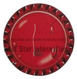 Rojo redondo de la gota del agua de cartón Coaster (CB01)