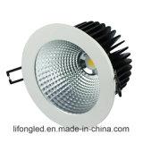 최고 에너지 절약 155mm 그만두어진 35W 옥수수 속 LED Downlights