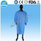 처분할 수 있는 진한 파란색 한 조각 병원 의류 환자 가운