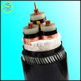 Conduit de cuivre basse tension souterrain XLPE / câble d'alimentation isolé en PVC avec blindé
