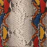 Het Leer van het Patroon Pu van de slang voor Handtassen (A959)